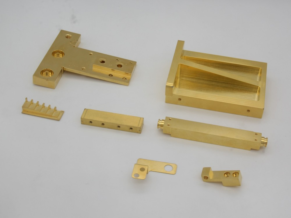 Optical communication gold-plated precision parts